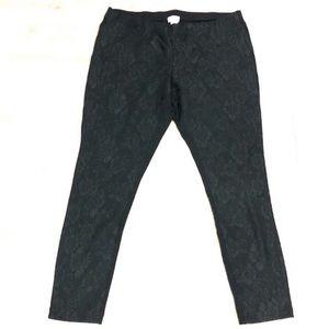 BNWT Carmen Marc Valvo lace leggings